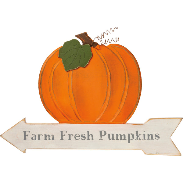Large Farm Fresh Pumpkins Sign