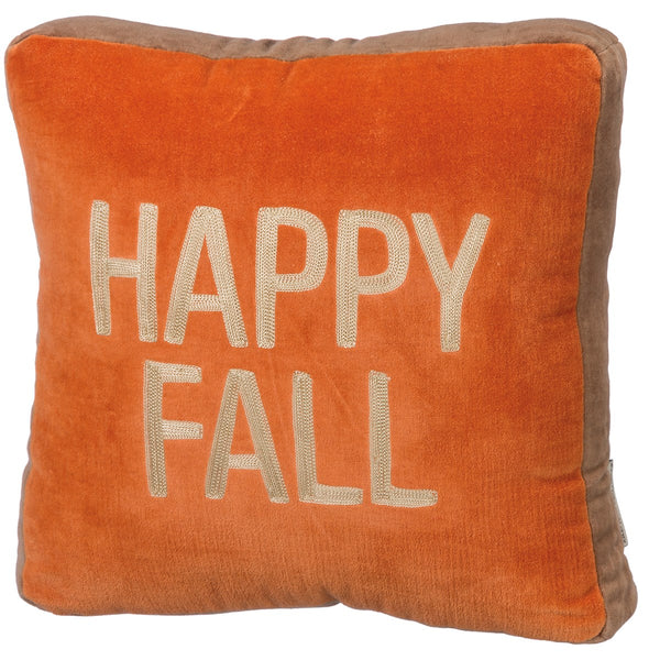 Happy Fall Velvet Cushion