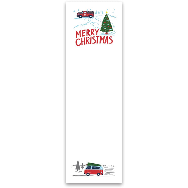 Merry Christmas Campervan Magnetic Notepad