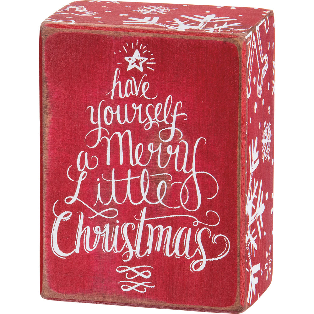 Have Yourself A Merry Little Christmas Sign.Merry Little Christmas Box Sign