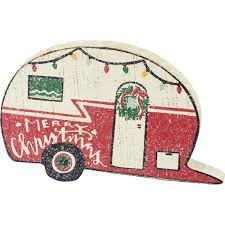 Merry Christmas Caravan Decoration