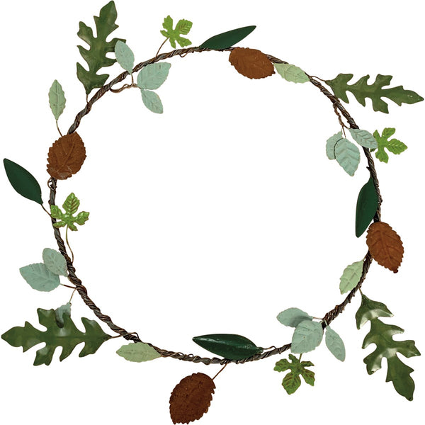 Metal Leaves Wreath
