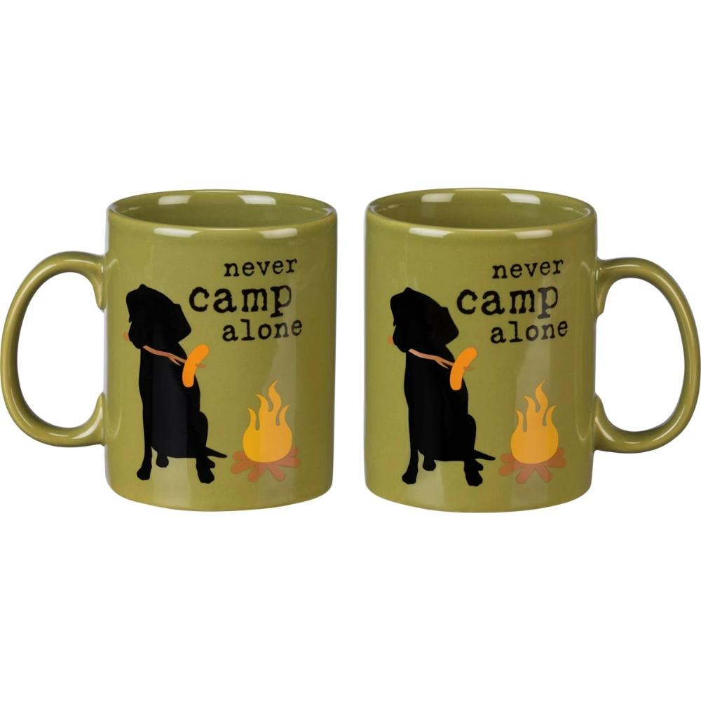 Never Camp Alone Stoneware Mug