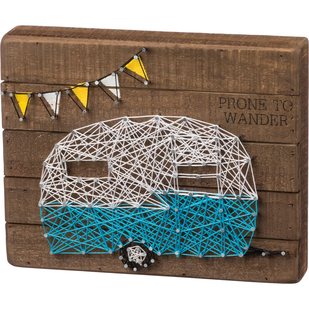 Prone to Wander String Art with Camper