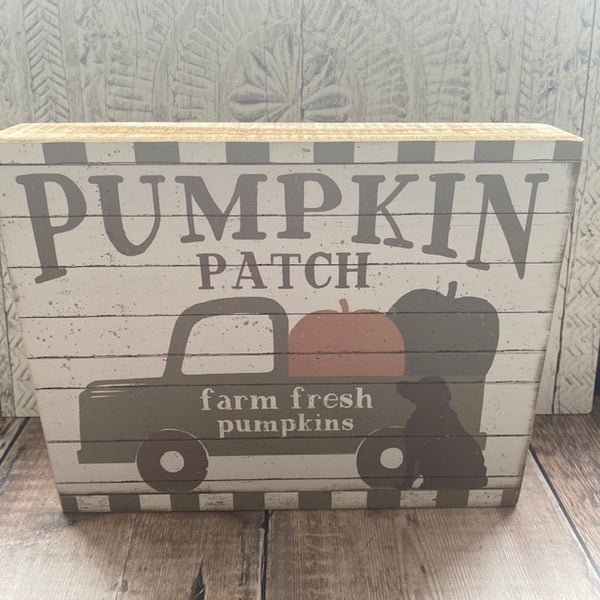Pumpkin Patch Sign with Truck