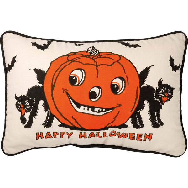 Retro Style Happy Halloween Cushion