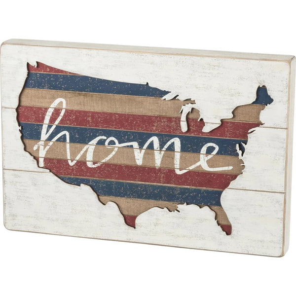 USA Home Slat Box Sign Art