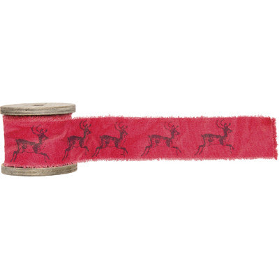 Wide Cotton Reindeer Ribbon