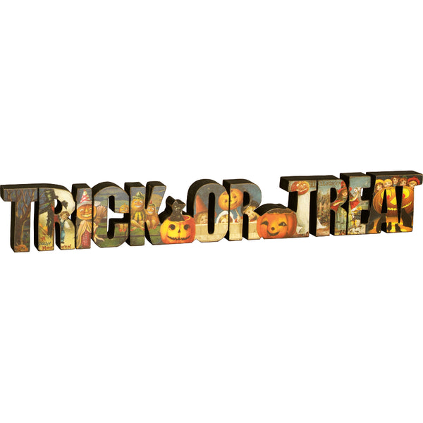 Vintage Style Trick or Treat Cutout Decoration