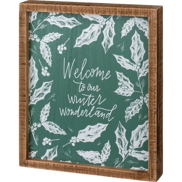Welcome to our winter wonderland sign
