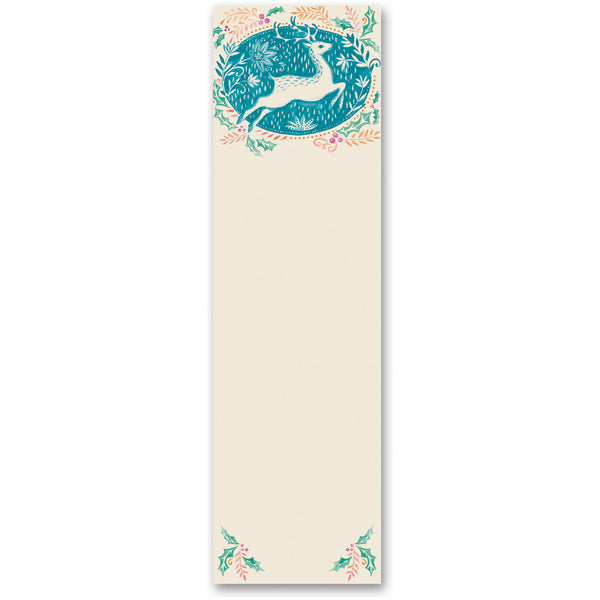 Boho Deer and Holly Magnetic Notepad