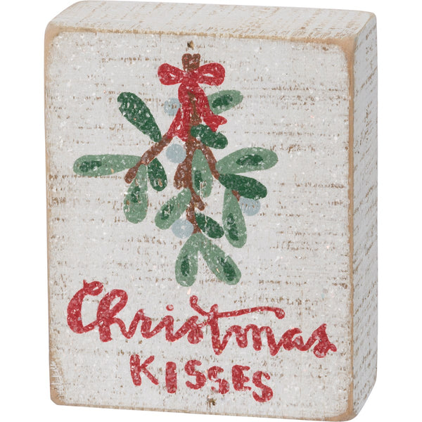 Christmas Wishes Wooden Box Sign