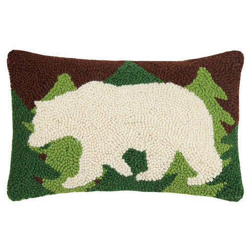 Hooked Polar Bear Cushion UK