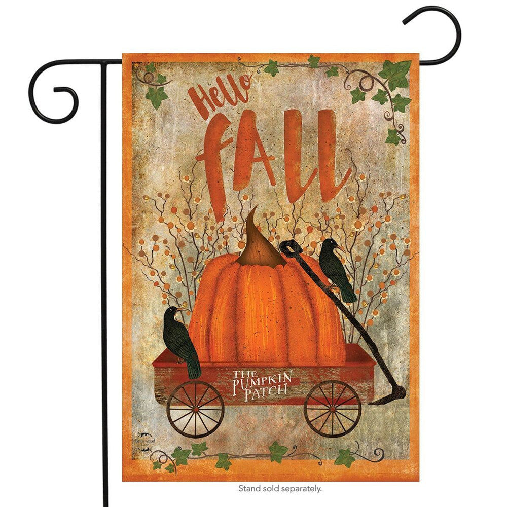 Hello Fall Prized Pumpkin Garden Flag