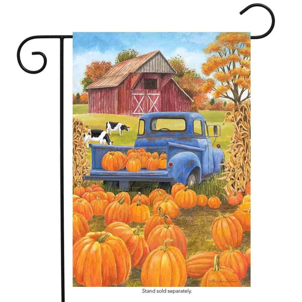 Pumpkin Patch Pickup Truck Garden Flag