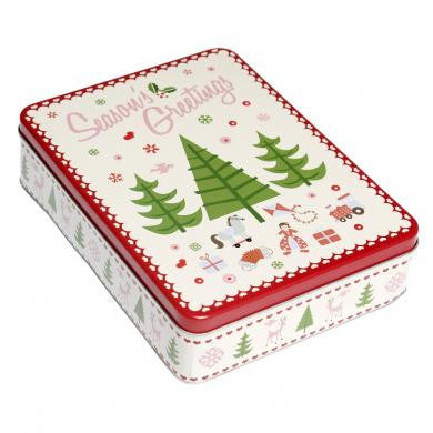 Season's Greetings Christmas Tin