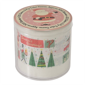 Retro Season's Greetings Loo Roll