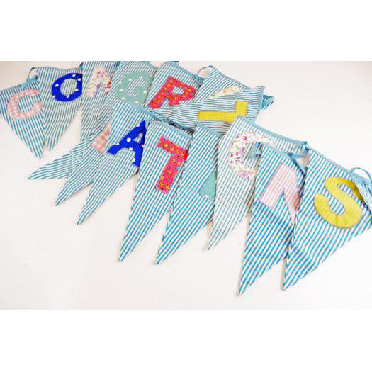 Congratulations Fabric Bunting