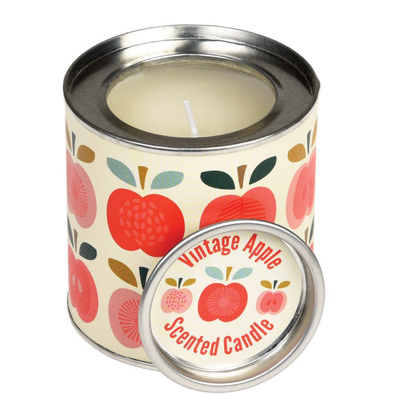Retro Apple Scented Candle in Tin