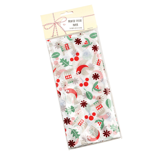 Scandinavian Christmas Tissue Paper Pack