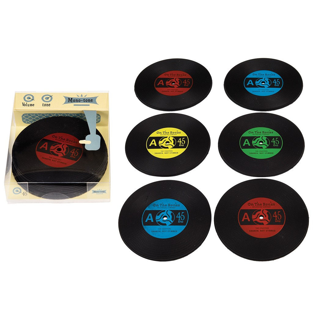 Gift Box with 6 Record Coasters