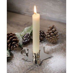 Nickel Star Candle Holder