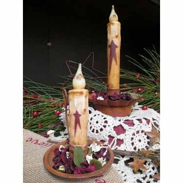 Red LED Tall Timer Candles