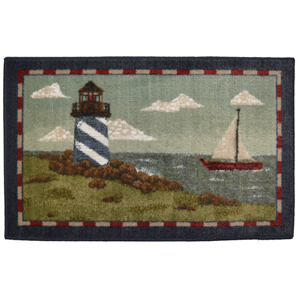New England Lighthouse Rug