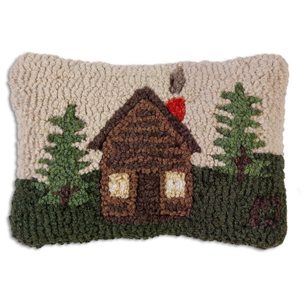 Rocky Hill Cabin Hooked Wool Cushion