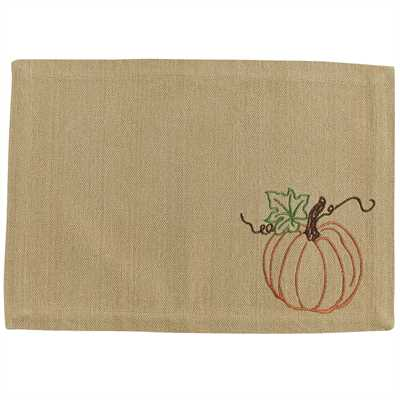 Rustic Pumpkin Embroidered Tablemat UK