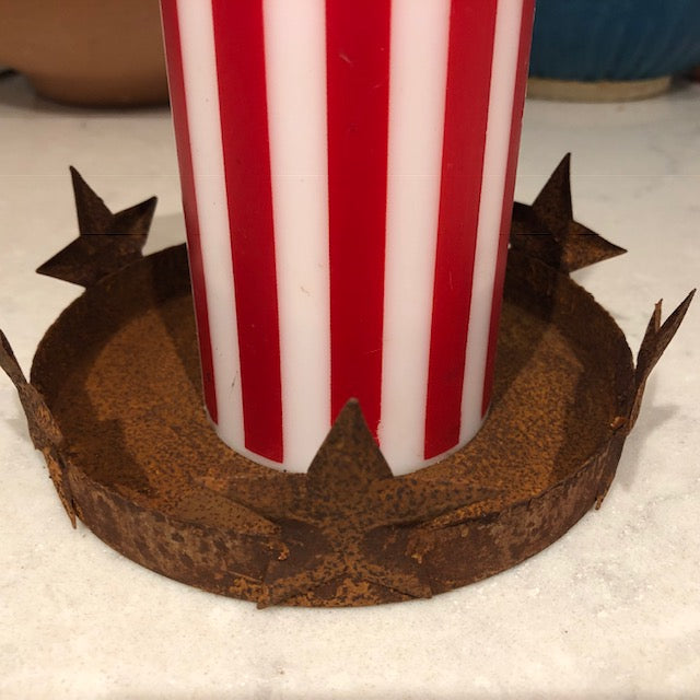 Rusty Stars Candle Holder