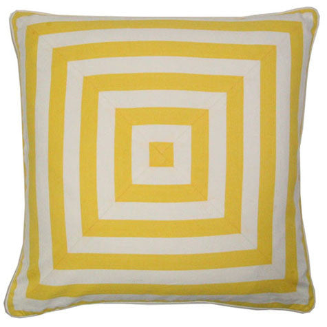 Yellow Stripes Deck Cushion