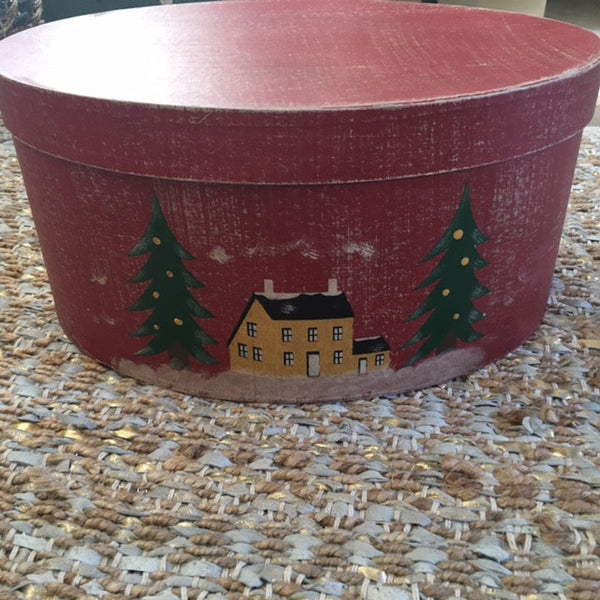Christmas Shaker Box with Saltbox House