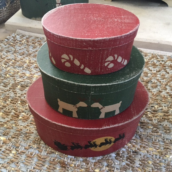 Saltbox Christmas Set of 3 Shaker Boxes