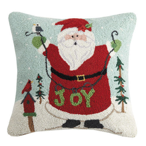 Santa Joy Hooked Cushion