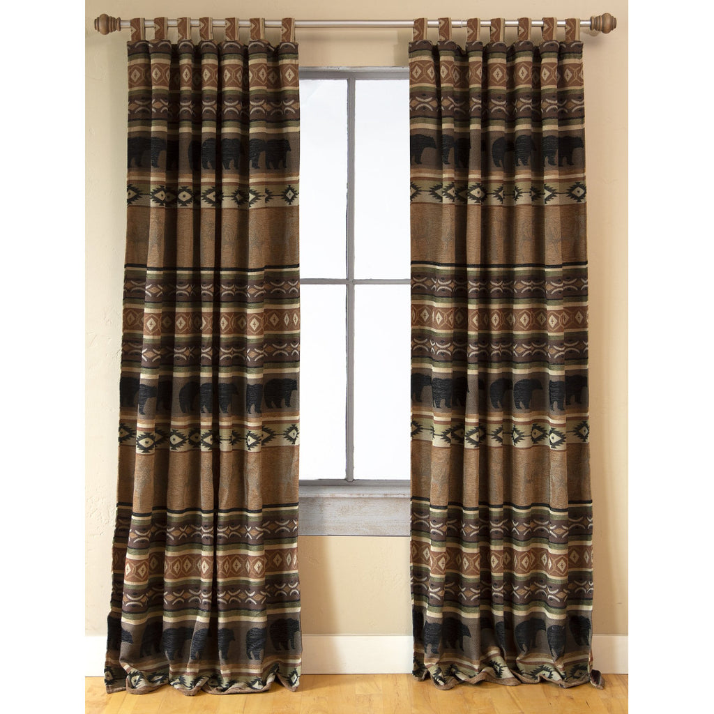 Saranac Lodge Pair of Curtain Panels