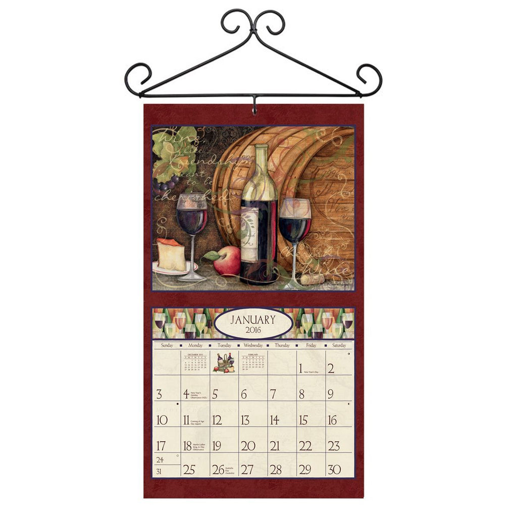 Lang Scroll Shaped Calendar Hanger UK