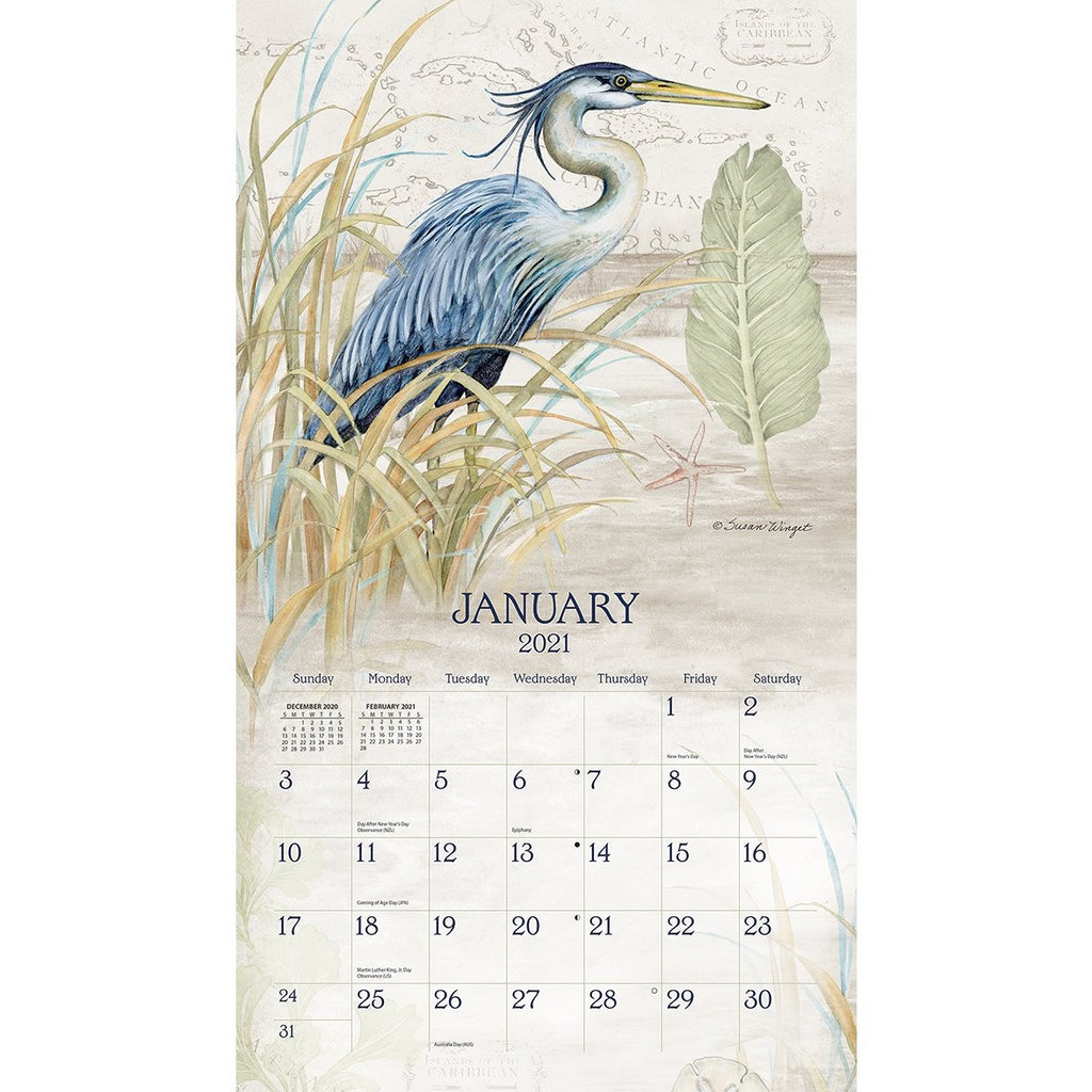 Lang 2021 Shoreline Calendars UK