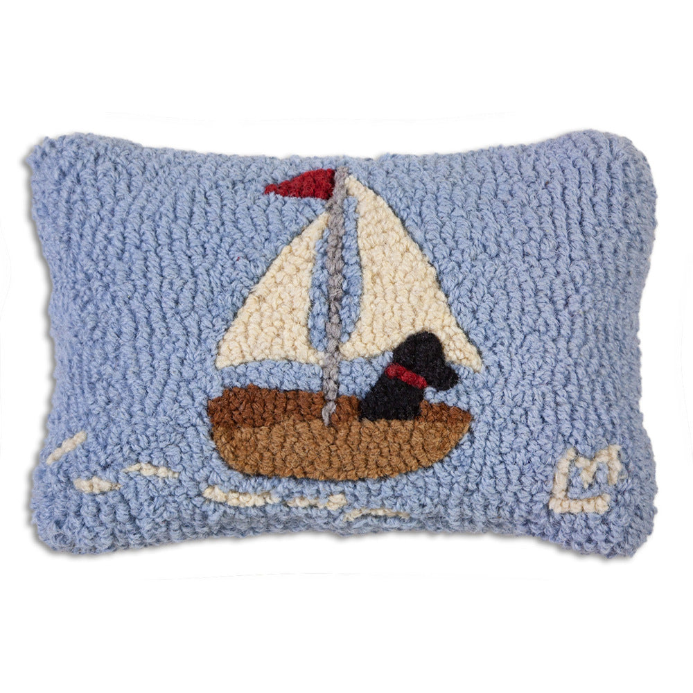 Skiff Sailing Lab Hooked Cushion UK
