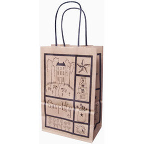 Small Folk Art Kraft Gift Bag