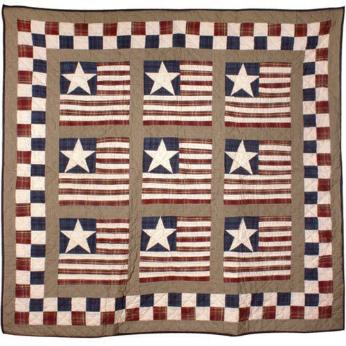 Earthy Stars and Stripes Throw