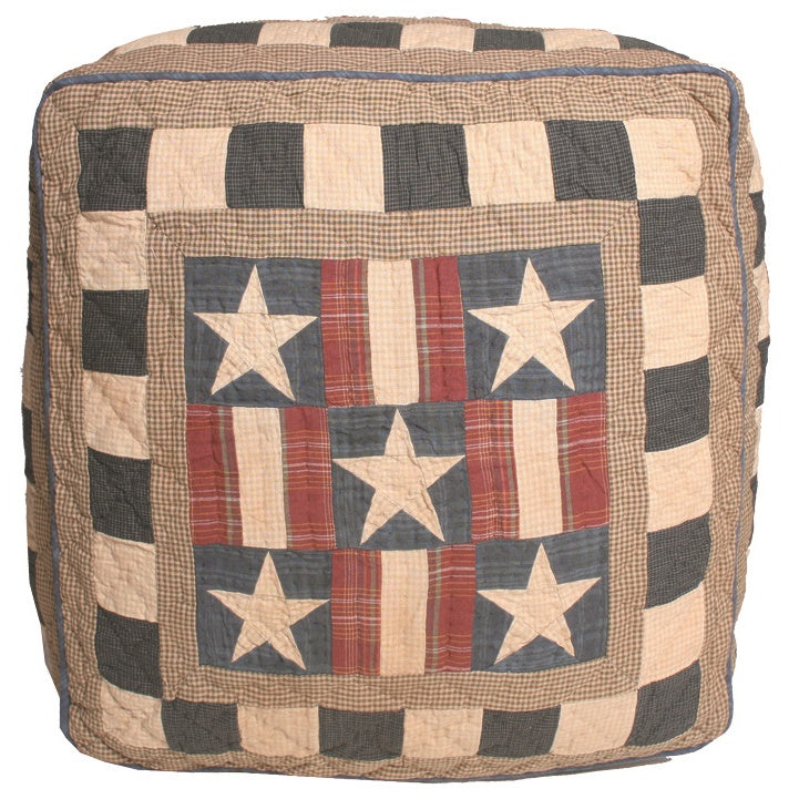 Folk Sampler Pouffe Footstool