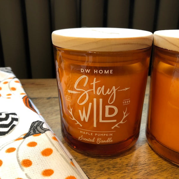 Stay Wild Maple Pumpkin Scented Candle with Wooden Lid