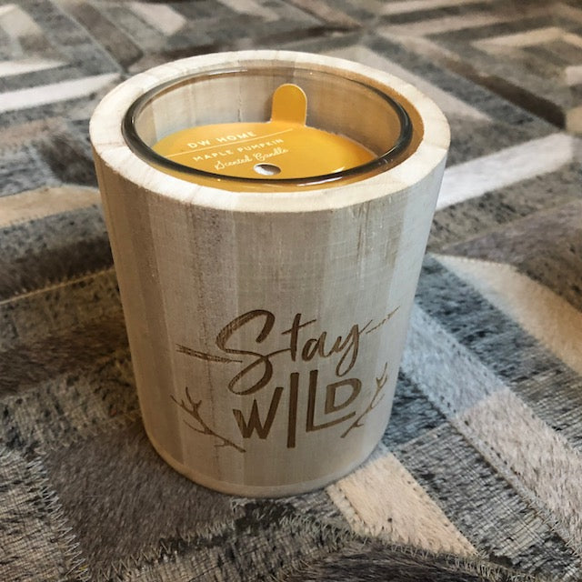 Stay Wild Maple Pumpkin Candle
