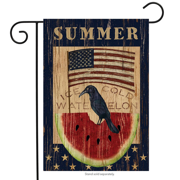 Summer Garden Flag with Watermelon design