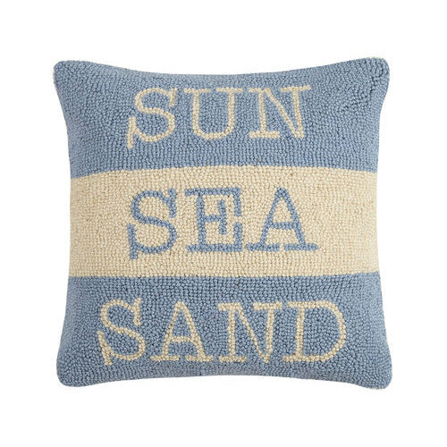 Sun Sea Sand Hooked Cushion