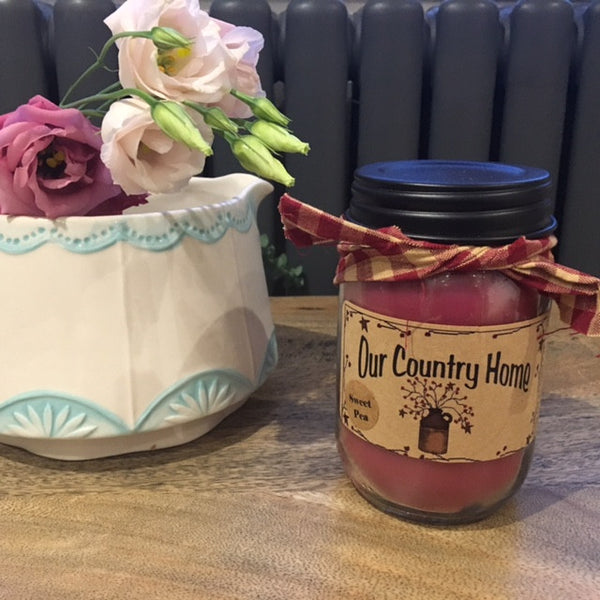 Our Country Home Sweet Pea American Candle