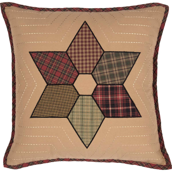 Tea Star Patchwork Cushion