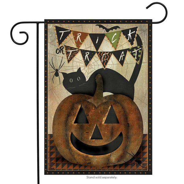 Trick or Treat Cat Flag