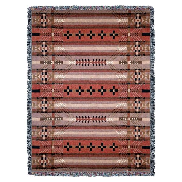 American Southwestern Style Tribal Camp Woven Throw UK